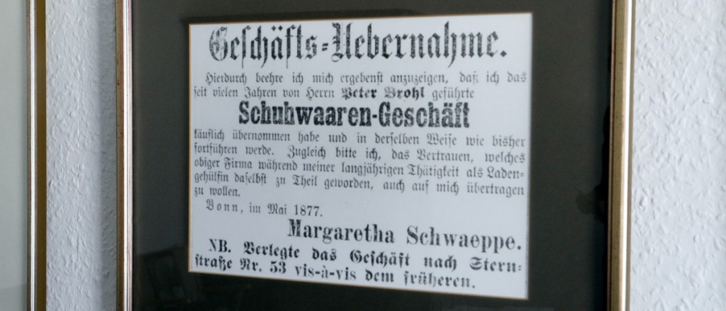 Ladenübernahme 1877